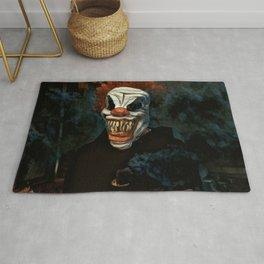 Scary Clown Blue Smoke Rug
