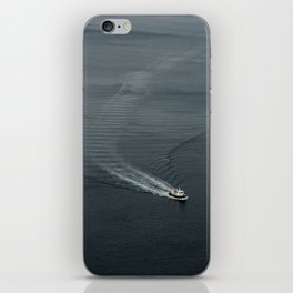 Boat by the Cliffs iPhone Skin