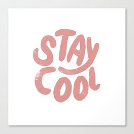 Stay Cool Vintage Pink Canvas Print