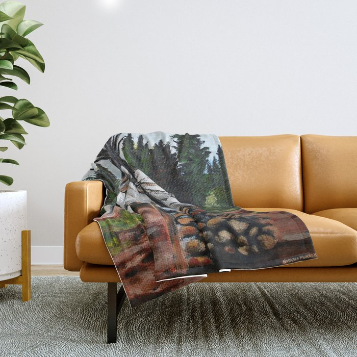 Walking Out Ceremony Teepee Throw Blanket