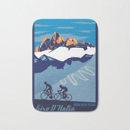 Giro d'Italia Passo Dello Stelvio cycling poster Bath Mat