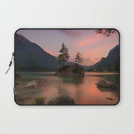 lake rocks trees mountains ramsau bei berchtesgaden germany Laptop Sleeve