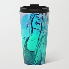 Geometric Sexy Girl Sketch V2 Travel Mug