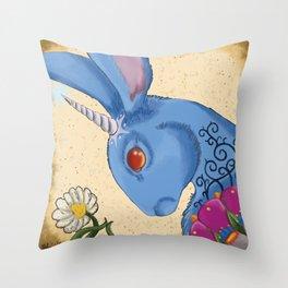 Unicorn Bun Throw Pillow