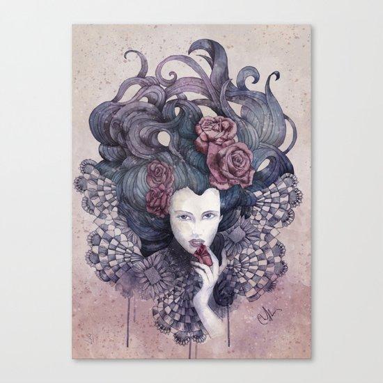 Indigo eyes Canvas Print