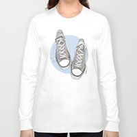 converse Long Sleeve T-shirts featuring Converse by maeveelectro