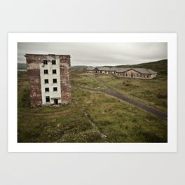 Gloomy Abandoned Buildings Art Print