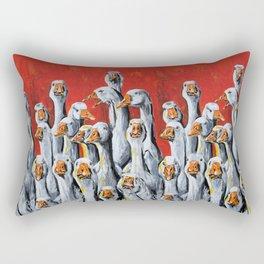 A Giggle Gaggle of Geese Rectangular Pillow