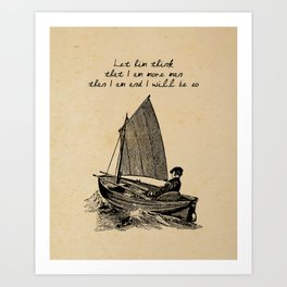 Ernest Hemingway - The Old Man and the Sea Art Print