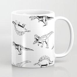 Dino Sketch Scaled Coffee Mug