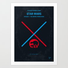 No155 My STAR Episode V The Empire Strikes Back WARS minimal movie poster Art Print