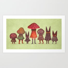 The Forest Lurkers Art Print