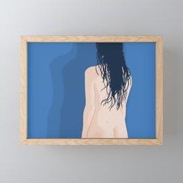 Wet Hair Framed Mini Art Print