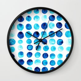 Blue dots Wall Clock