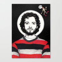 flight of the conchords Canvas Prints featuring Flight of the Conchords: BRET McKENZIE IN SPACE! by Dianah B