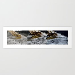 This is a panoramic picture of Minerva Terraces in Yellowstone. Art Print