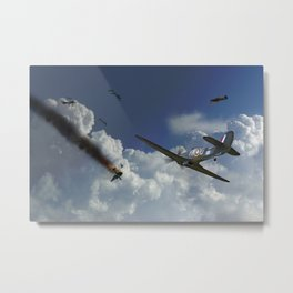 Hurricane Fighter Metal Print