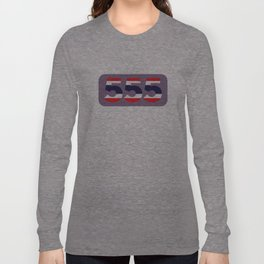 555 in the colors of the Thai flag Long Sleeve T-shirt