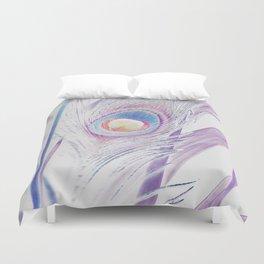 Pastel Peacock Duvet Cover