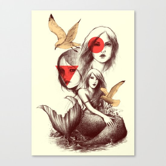 When Mermaids Cry Canvas Print