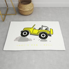 That's how I roll - Yellow Jeep Rug