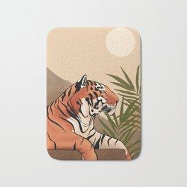 Tiger Boho Landscape Bath Mat
