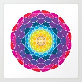 floral ornament. circular pattern Art Print
