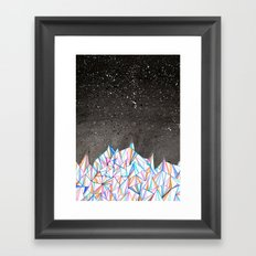 Crystal City at Night Framed Art Print