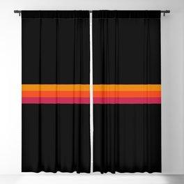 Kiyotsuna - Classic Retro Stripes Blackout Curtain