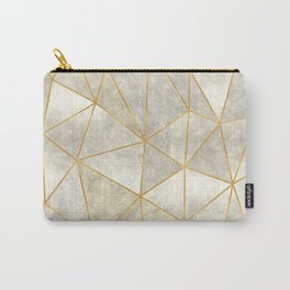 Geometric Mother of Pearl Carry-All Pouch