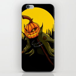 Pumpkin scarecrow iPhone Skin