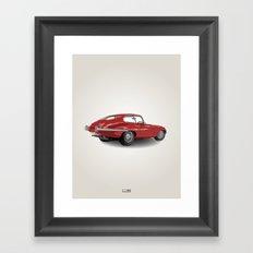 Jaguar E-Type Series 1 (1961-1968) Framed Art Print