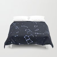 constellations Duvet Covers featuring Constellations by SirLindsay
