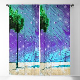 Venice Vaporwave Beach Meteor Light Show Blackout Curtain