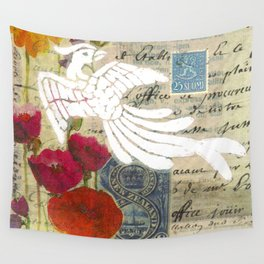 Suomi(Finnish) Stamp Wall Tapestry