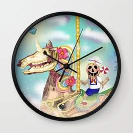 UNICORN CHILDHOOD (my first digital painting, 2012)  Wall Clock