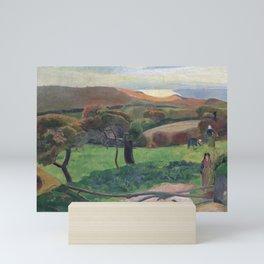 Landscape from Bretagne by Paul Gauguin Mini Art Print