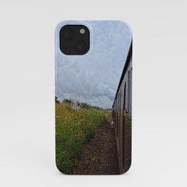 Steam train coach reflection iPhone Case
