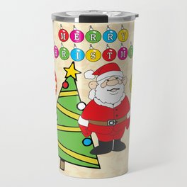 Santa & the Tree Travel Mug