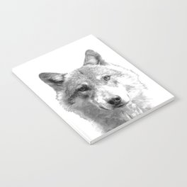 Black and White Wolf Notebook