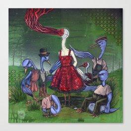 A Wedge Of Cranes Canvas Print