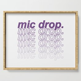 BTS Mic Drop Typography Serving Tray