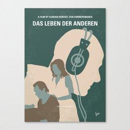 No918 My Das Leben der Anderen minimal movie poster Canvas Print
