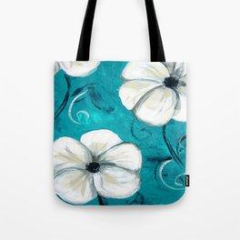 Flowers in Oil Tote Bag
