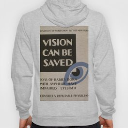 Vintage poster - Vision Can Be Saved Hoody