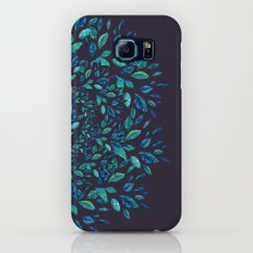 Blue Leaves Mandala Galaxy S7 Slim Case