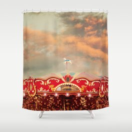 Wonderful Whirled Carousel Shower Curtain