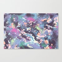 celestial Canvas Prints featuring Celestial by Wendy Ding: Illustration