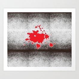 Spotted Bricks Red Splash Art Print