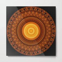 Chamber of Light Mandala Metal Print